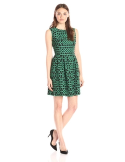 Anne Klein - Printed Fit & Flare Dress