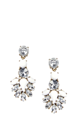 Boohoo Night - Lexi Drop Jewel Statement Earrings