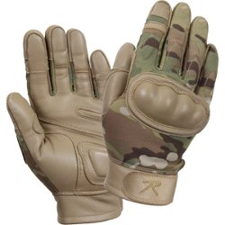 MultiCam - Flame / Heat & Cut Resistant Hard Knuckle Tactical Gloves