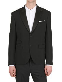 Neil Barrett  - Tuxedo Wool Crepe Jacket