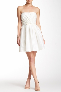 Donna Morgan - Pleated Front Strapless Dress