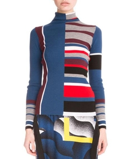 Kenzo - Colorblock Striped Wool Top