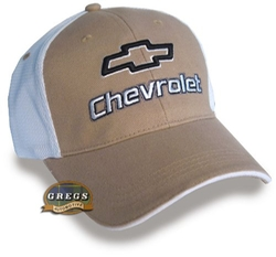 Gregs Automotive LLC - Chevrolet Bowtie Hat Cap In Tan
