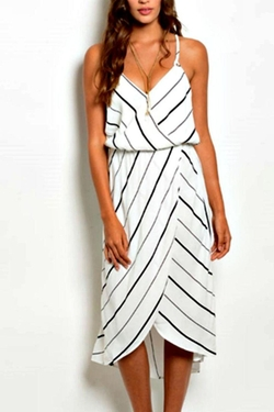 Shoptiques - Striped Tulip Dress