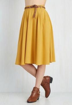 Mod Cloth - Breathtaking Tiger Lilies Skirt