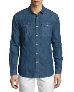 John Varvatos Star USA  - Long-Sleeve Denim Shirt