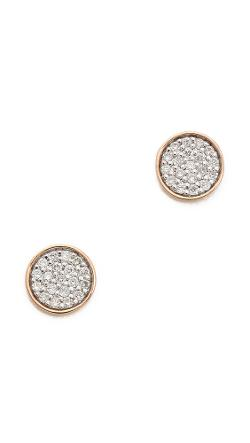 Ginette_Ny  - Round Sequin Diamond Stud Earrings