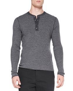 Michael Kors - Long-Sleeve Henley Shirt