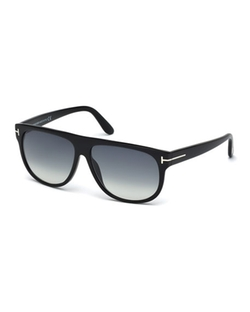 Tom Ford - T-Temple Flat-Top Sunglasses