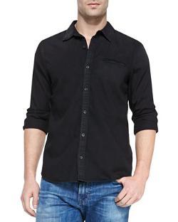 AG Adriano Goldschmied  - Long-Sleeve Denim Shirt