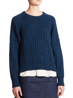 See By Chloé  - Felted Knit Side-Zip Sweater