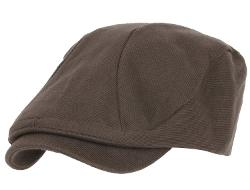Iililily  - Cotton Jersey Vintage Flat Cap Back String and Side Strap Newsboy Cap