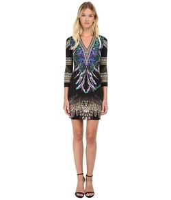 Just Cavalli - Bodycon Printed Knit Dress