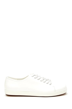 21Men - Faux Leather Low-Top Sneakers