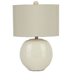 Bed Bath And Beyond - Ceramic Oval Table Lamp In Cream