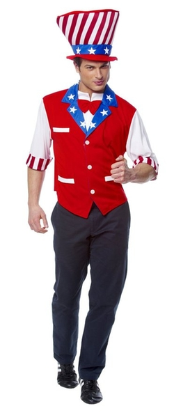 Franco American Novelty Company - Uncle Sam Vest And Hat Set