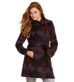 Steve Madden - Tribal Belted Wrap Coat