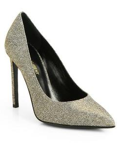Saint Laurent  - Metallic Paris Pumps