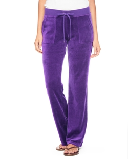 Juicy Couture - Bling Velour Bootcut Pants