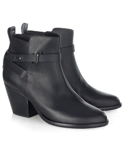 Rag & Bone - Black Leather Dalton Ankle Boots