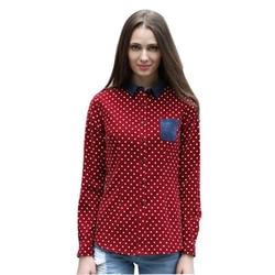 Veri Gude - Polka Dot Corduroy Shirt