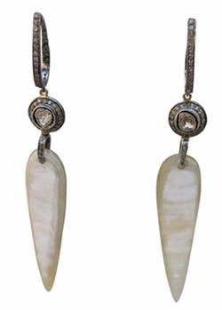S. Carter - Horn And Rosecut Diamond Earrings