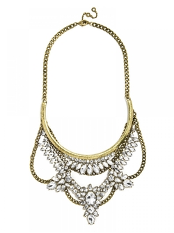 Baublebar - Crystal Grendel Bib Necklace
