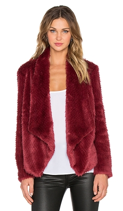 Bardot - Waterfall Faux Fur Jacket