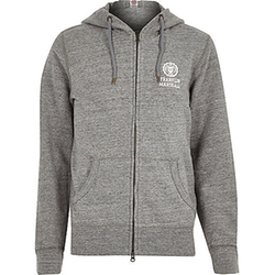 River Island - Grey Marl Franklin & Marshall Hoodie