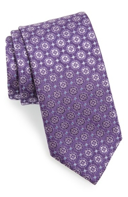 Canali - Floral Medallion Silk Tie