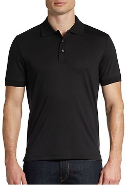Saks Fifth Avenue BLACK  - Slim-Fit Ice Cotton Polo Shirt