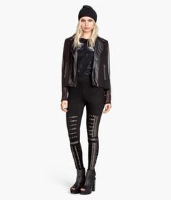 H&M - Studded Leggings