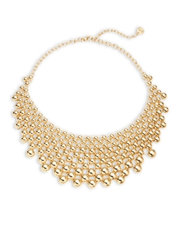 R.J. Graziano - Golden Bead Statement Necklace