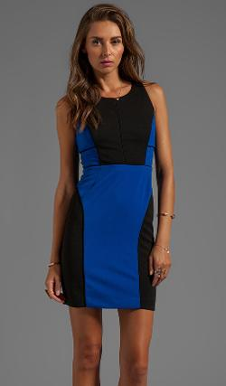 GREYLIN - ANGELINA COLOR BLOCKED DRESS