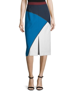 Escada  - Geometric-Print Bonded Pencil Skirt