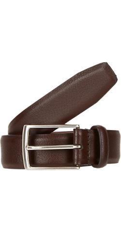Barneys New York - Grained-Leather Belt