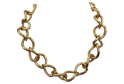 Little Baby Kitty - Chunky Gold Chain-Link Choker