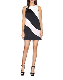 Cynthia Rowley  - Swirl Colorblock Shift Dress