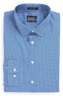 1901  - Trim Fit Check Dress Shirt