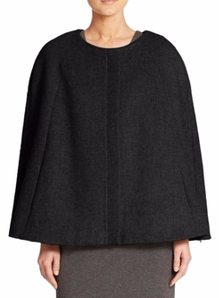 Saks Fifth Avenue Collection  - Wool & Cashmere Cape