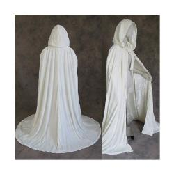 Artemisia Designs  - Renaissance Lined Velvet Cloak Ivory or Off White