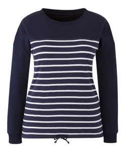 SimplyBe - Dipped Hem Striped Pullover Sweater