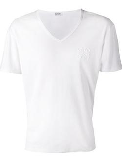 Loewe - Logo Emblem V-Neck T-Shirt