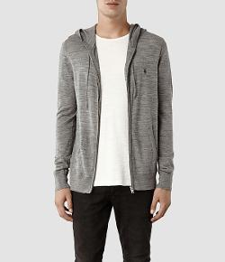 All Saints - Mode Merino Zip hoody