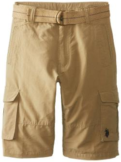 U.S. Polo Assn.  - Cotton Nylon Cargo Shorts with Belt