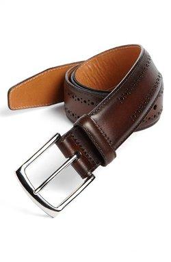 Allen Edmonds  - Manistee Brogue Leather Belt