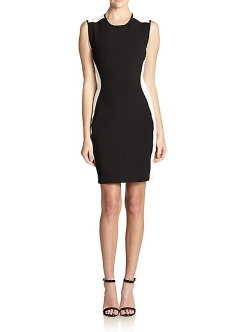 Shoshanna - Anna Bicolor Stretch Twill Sheath