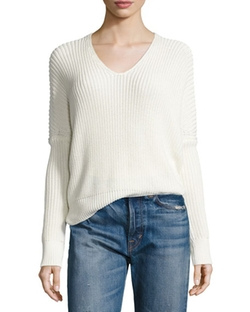 Vince  - Cardigan Stitch V-Neck Sweater