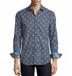 Robert Graham - Mosaic Tile-Print Sport Shirt