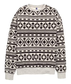 H&M - Patterned Sweatshirt